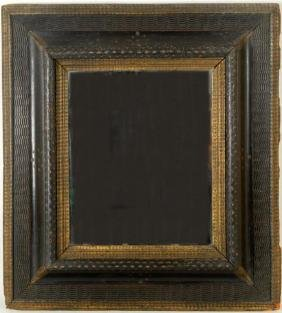 Toscanini's Ebonized & Parcel Gilt Shaving Mirror