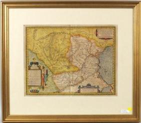 Ortelius Map Of Dacia & Moesia, Abraham Ortelius