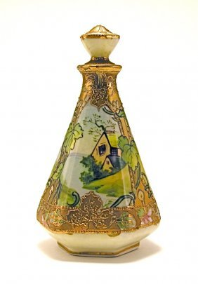 1910s Noritake Porcelain Perfume Bottle