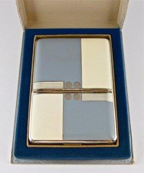 1920s Hudnut Enamel Compact-Cigarette Case