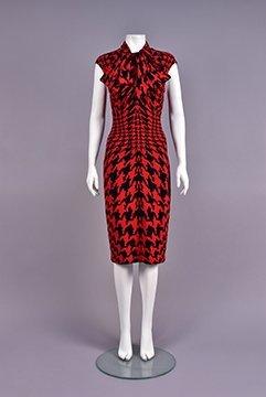 Alexander Mcqueen Dogtooth Dress And Neckpiece, 2009