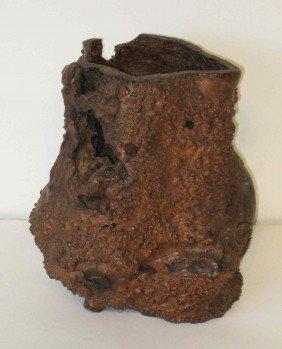 Oriental Burlwood Vase