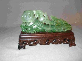 Carved Spinach Jade