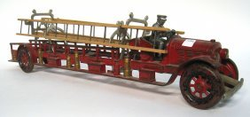 Cast Iron And Painted Fire Truck