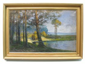 Oil On Canvas By H. Wolff