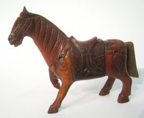 Chinese Horn Carved Horse