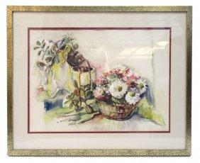 Watercolor Signed Helen Foulke