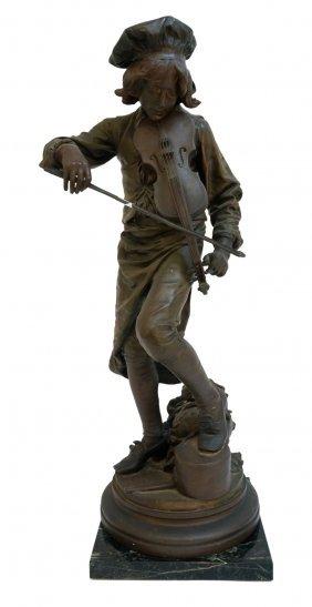 "A Gaudez Cast Bronze ""lulli Enfant"""