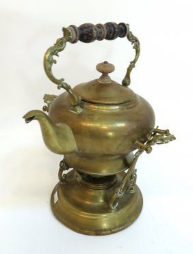 Brass Teapot And Warmer