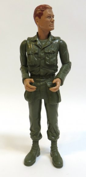 Vintage Battle Toy Soldier By Marx