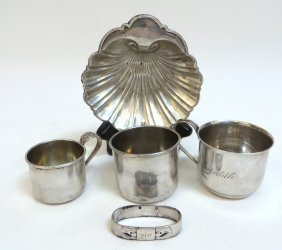 Five Pieces Of Assorted Sterling