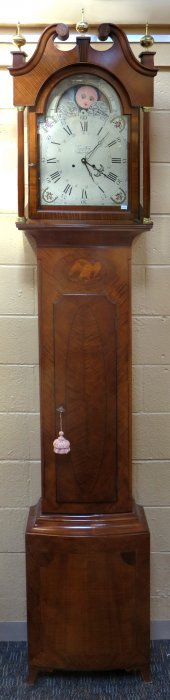 Federal Style Tall Clock Signed Jacob Eby
