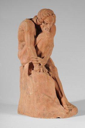 BOLESLAS BIEGAS (1877-1954) Terracotta Signed And D