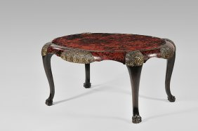 MAISON FRANCK FR�RES Oval Coffee Table In Tinted Ma