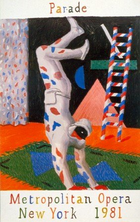 1980 Hockney Harlequin Poster