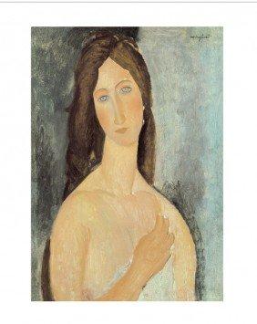Modigliani Jeanne Hebuterne Aux Epaules Nues