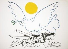 1974 Picasso La Colombe De L'Avenir Lithograph
