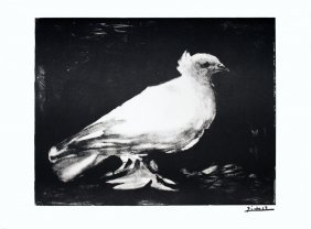 1974 Picasso La Colombe Lithograph