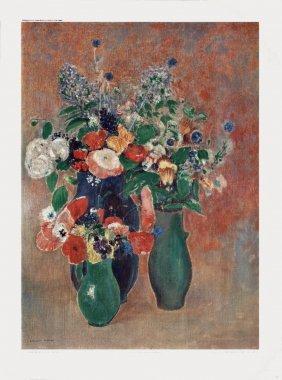 Redon Floral Still Life Poster