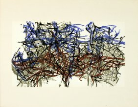 Riopelle Untitled Lithograph