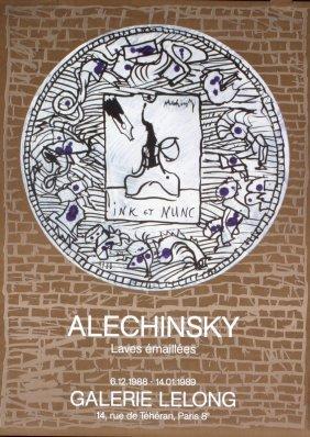 1989 Alechinsky Gallery Lelong Poster