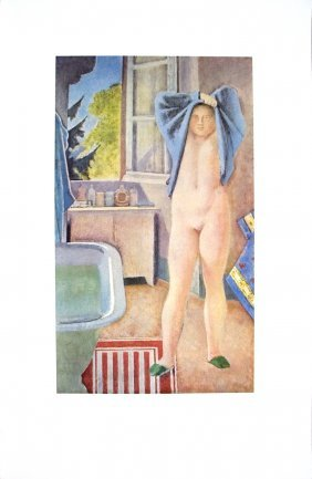 Balthus Jeune Fille Au Drap Bleu Poster
