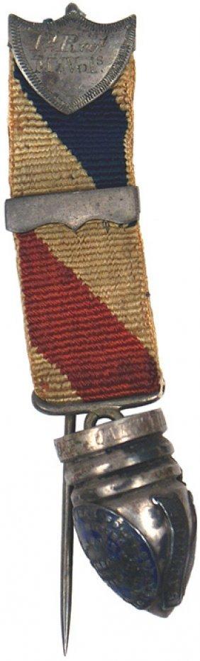 Unusual Civil War Regimental Service Award