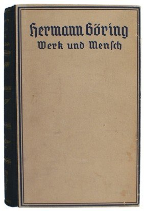 Adolf Hitler Library Book HERMAN GORING