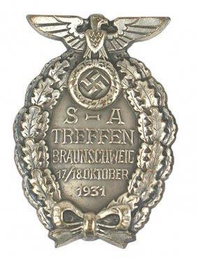 German WWII SA Brunswick 1931 Badge
