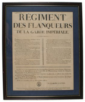 French Napoleonic Recruiting Poster