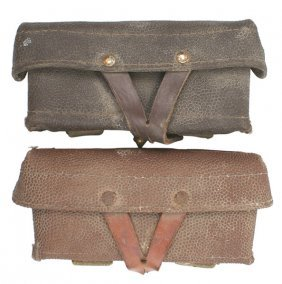 Lot Of 2 Soviet Post-wwii Cartridge Pouches