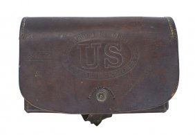 Civil War Mann M1864 Infantry Cartridge Box