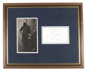 Civil War Admiral David D. Porter Signed Print