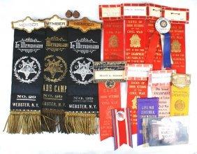 Civil War Items Discharge Ribbons Etc