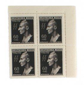 Third Reich Bohemia Moravia Ss Heydrich Death Stamps