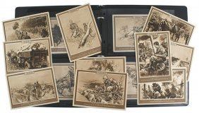Lot Of 30 German Wwii Postcards Infanterie