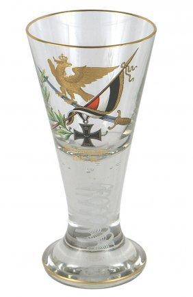German Wwi Commemorative Crystal Glass