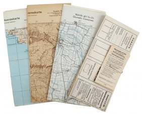 German Wwii Lot Maps Of Italy Etc