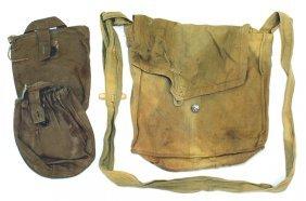 Lot Of 4 Soviet Wwii Gas Mask Bag Etc