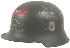 Lot 2 German Wwii Helmets American Gi Flag Photos