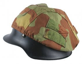 German Wwii M1942 Post-war Refinish Helmet