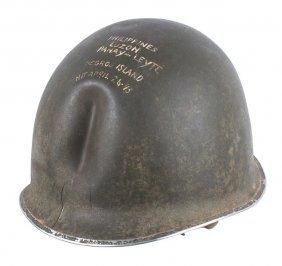 U.s. Wwii Combat Souvenir Helmet