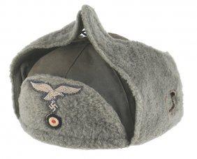 German Wwii Luftwaffe Padded Winter Cap