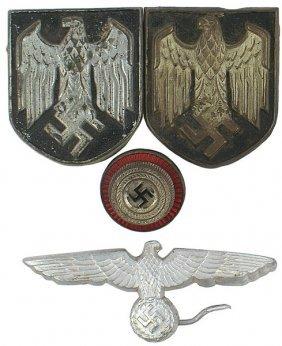Lot Of 4 German Wwii Cap Insignia