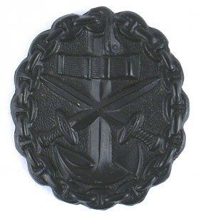 German Wwi Black Navy Wound Badge