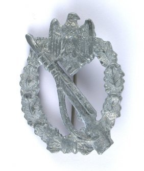 German Wwii Infantry Assault Badge Silver