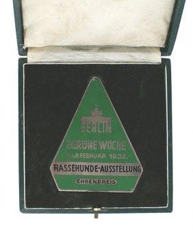 German Wwii Dog Breeding Medal