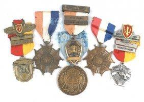 Lot Of 6 U.s. Medals Masonic Etc