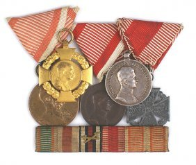 Lot Of Austrian Medals Etc Wwi Corpsman