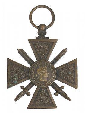 Lot 2 French Wwi Croix De Guerre Etc